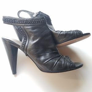 Vince Camuto Sling back mule peep toe leather sz 8